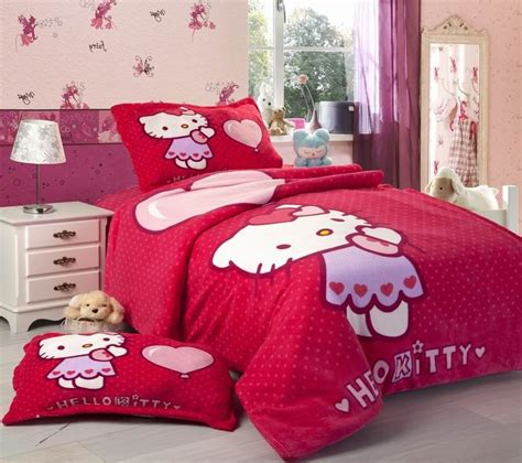hello kitty bedroom for girls beautiful red hello kitty bedding set for girls bedroom decorating ideas fnw