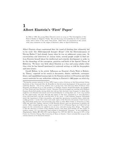 Essay On Albert Einstein by Albert Einstein Research Papers About Physics