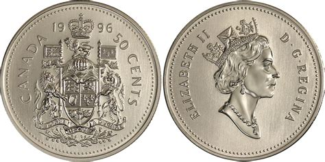 50 cent coin value coins and canada 50 cents 1996 canadian coins price