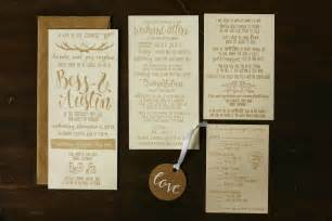 wedding invitation suite wedding invitation suite brown fox calligraphy