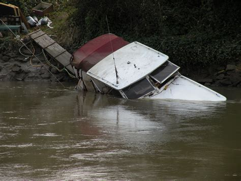 sinking river boat that sinking feeling cleaning up abandoned boats knkx