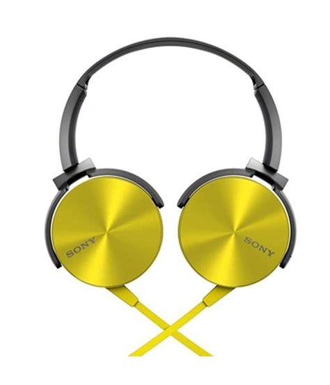 Headphone Sony Bass Mdr Xb 450 Ap Mic sony mdr xb450 on ear bass xb headphones yellow without mic buy sony mdr xb450 on ear