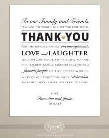 digital file personalized wedding reception thank you card