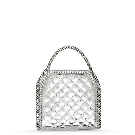 Quilted Canvas Bag Metallic Collection From Series by Lyst Stella Mccartney Falabella Quilted Metallic Mini