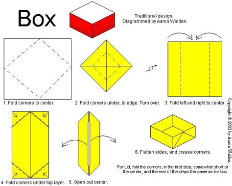 Origami Box Diagram - pin by on origami 折り紙