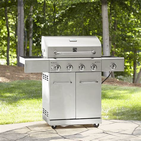 kenmore 4 burner stainless steel kenmore 4 burner gas stainless steel grill with searing