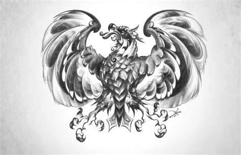 german eagle tattoo designs strong grey german eagle design by omtni