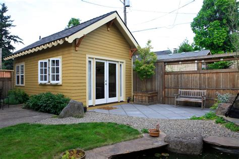 small backyard cabins the piedmont cottage a tiny backyard cottage in portland