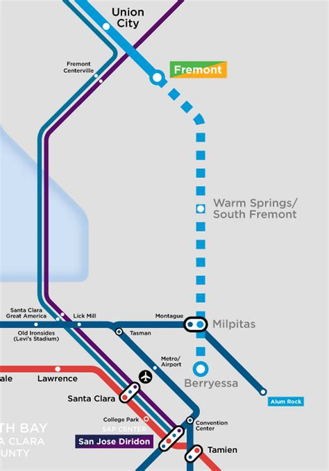 bart san jose extension map my favorite regional transit maps