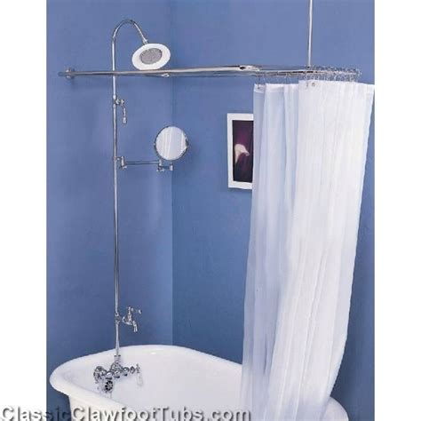 Clawfoot Tub With Shower by Clawfoot Tub Wall Mount Shower Enclosure Combo W Leg Tub