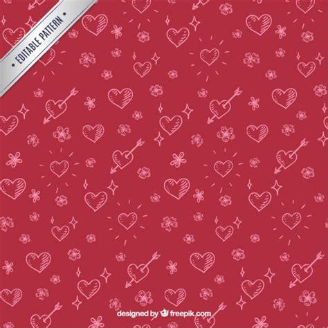 valentine pattern vector sketchy valentines day pattern vector free download