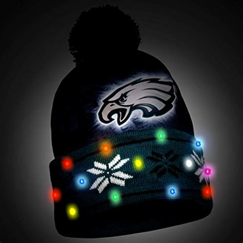 light up hat philadelphia eagles light up hat football theme hats