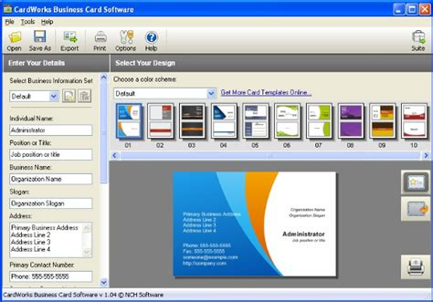 cardworks business card software templates cardworks business card software gratis image collections