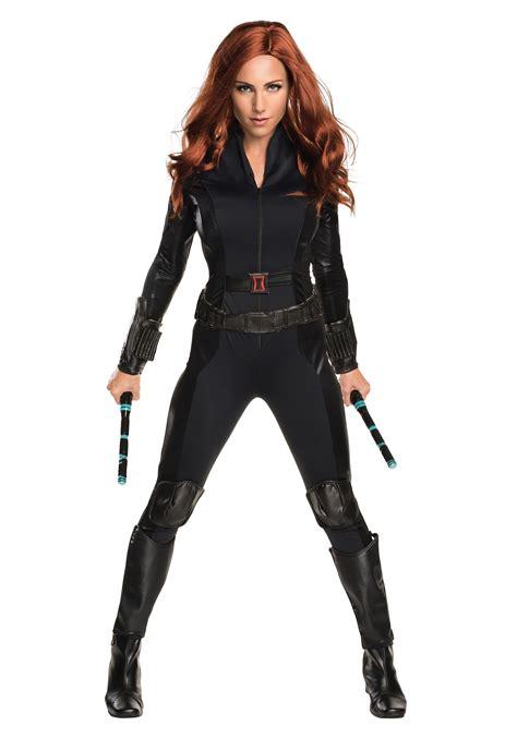 womens deluxe civil war black widow costume