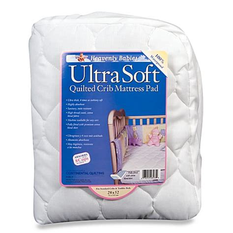 Crib Mattress Topper Soft Ultra Soft Quilted Waterproof Crib Mattress Pad By Continental Quilting Bed Bath Beyond