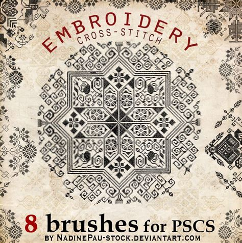 photoshop pattern embroidery embroidery a cross stitch decorative photoshop brushes