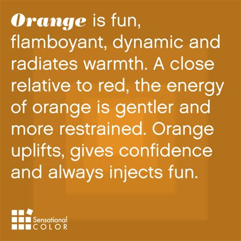 meaning of orange color all about the color orange sensational color