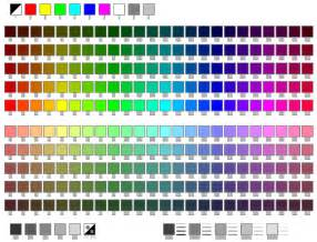 color table screen menus autocad color table davidg s peer