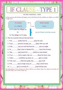 if clause type 1 worksheet free esl printable