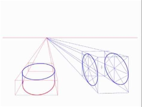 2 Point Perspective Drawing Of A Circle by Creating Ellipses And Cylinders In Perspective