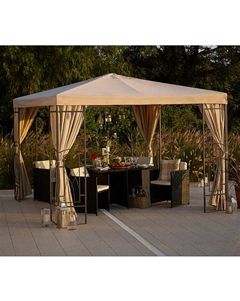 pvc pavillon 2 5 metre pvc coated decorative gazebo j d williams