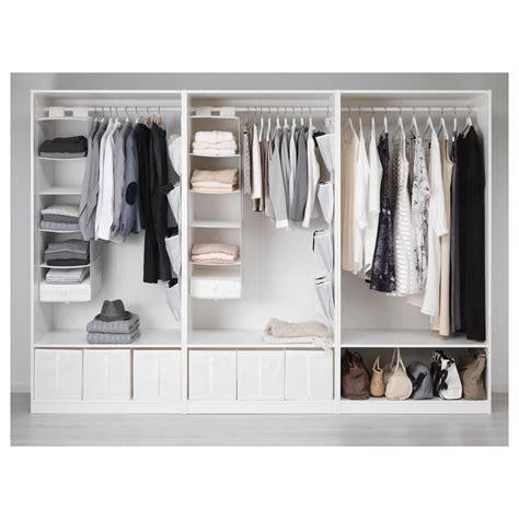 guardaroba planner pax wardrobe white bergsbo vikedal 300x60x201 cm