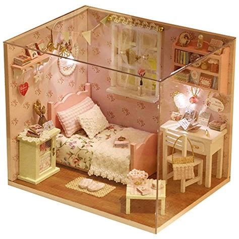 youku youku wooden dollhouse miniature diy kit bedroom