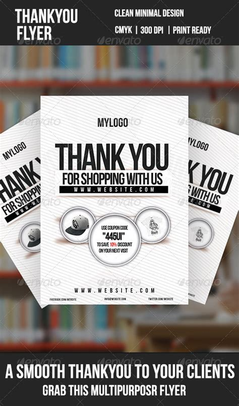 Thank You Minimal Flyer Graphicriver Thank You Flyer Template Free
