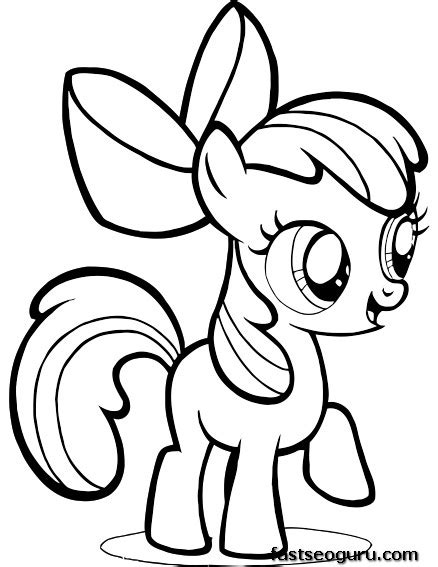 my little pony friendship is magic coloring pages to print free printable my little pony friendship is magic apple bloom