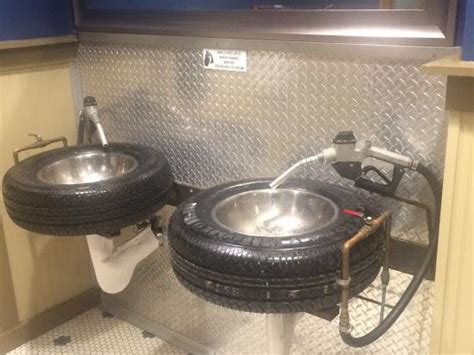 unusual bathroom sinks uk urinal made of an old beer barrel clever idea picture