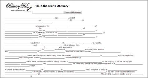obituary template for microsoft word obituary template for microsoft word bidproposalform