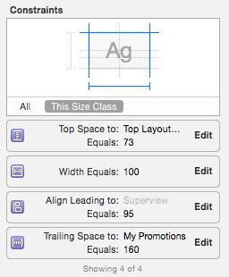 auto layout align menu ios how align 2 buttons in a row using auto layout