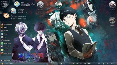 live themes anime win 7 theme tokyo ghoul by bazzh by suck style on deviantart