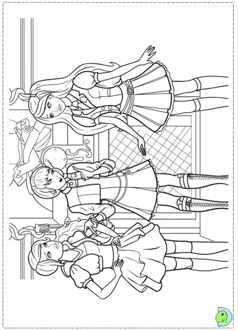 barbie school coloring page free coloring pages of barbie princess charm school
