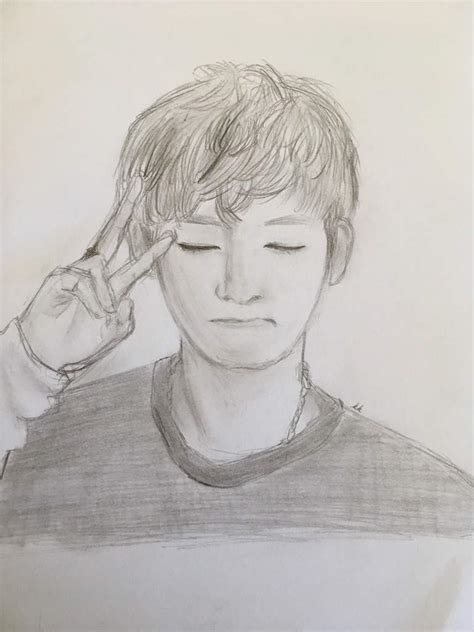 V Drawing Bts Easy by Taehyung Sketch Taehyung Amino