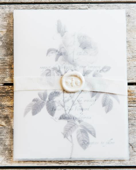 Wedding Invitation Paper by Gray Vellum Wine Country Wedding Invitations