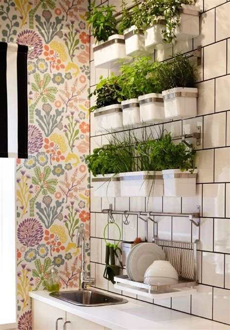 wall herb garden ikea position your herb wall in the kitchen for easy access