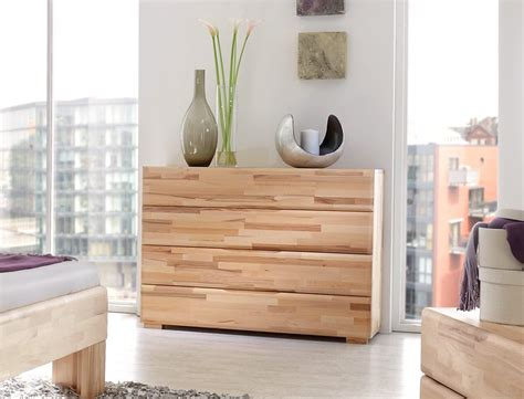 schlafzimmer losone eiche massivholzbett kommode lowboard