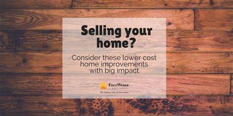 selling your home consider these lower cost home