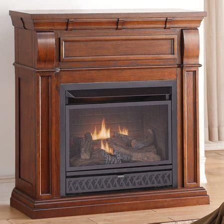 gas fireplace btu procom dual fuel vent free gas fireplace 26 000 btu t stat chestnut oak walmart
