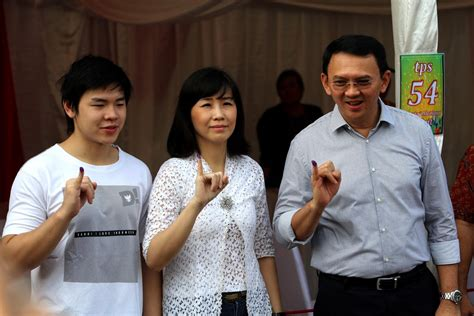 ahok family ahok family pray together before voting politics the
