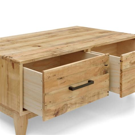 buy coffee table with drawers portland recycled pine coffee table with 2 drawers buy