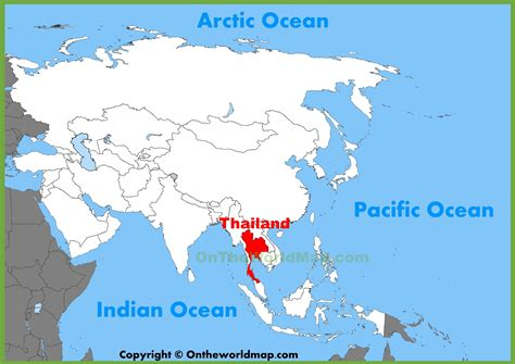 location of asia in world map thailand location on the asia map