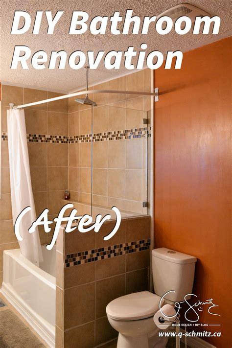 diy bathroom renovation after madness method