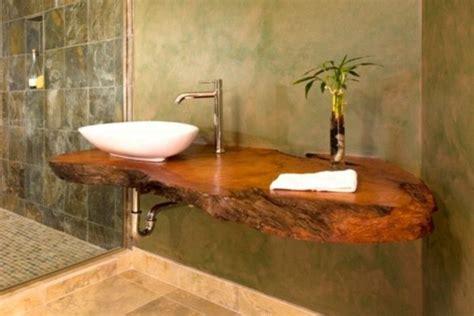 waschtisch aus holz f 252 r mehr gem 252 tlichkeit im bad - Waschbecken Mit Holzplatte