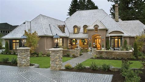One Story French Country House Plans With Stone Country Country Style Ranch House Plans