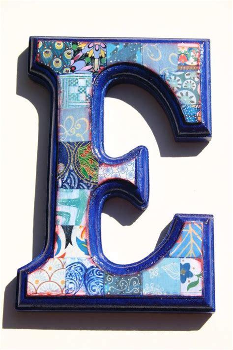 Decoupage Wood Letters - nursery letter decoupage letter alphabet letter wood