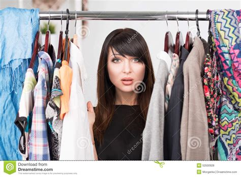 I Want To Change Wardrobe by Portrait Of Confused In Front Of A Wardrobe Stock Photo Image 52500928