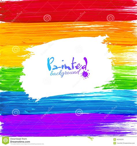 bright rainbow paint splashes vector background stock vector image 42235293