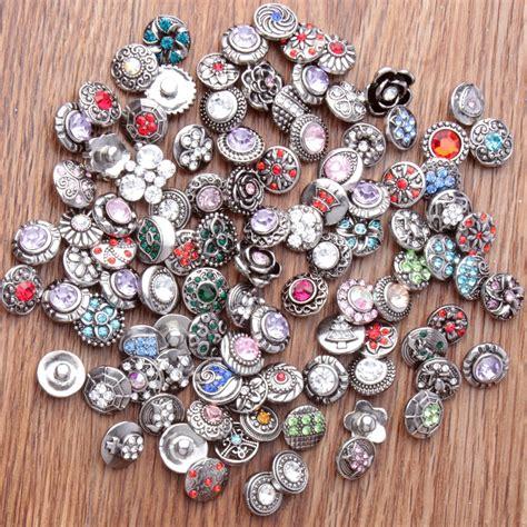 Charm Mix 10pcs lot mix snap button charm high quality 12mm metal